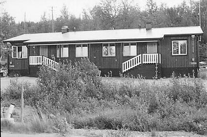 Personalbostad för Driftens folk. Foto: Norrbottens museum. År: 1984