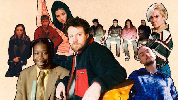Metronomy Kollaborationspartner Collage Ausschnitte Beiger Hintergrund