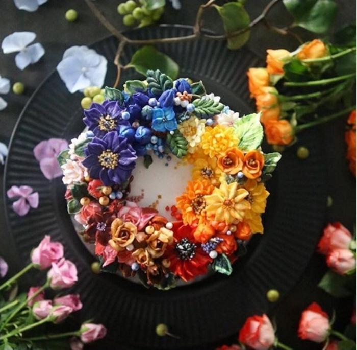Авторские цветочные торты.