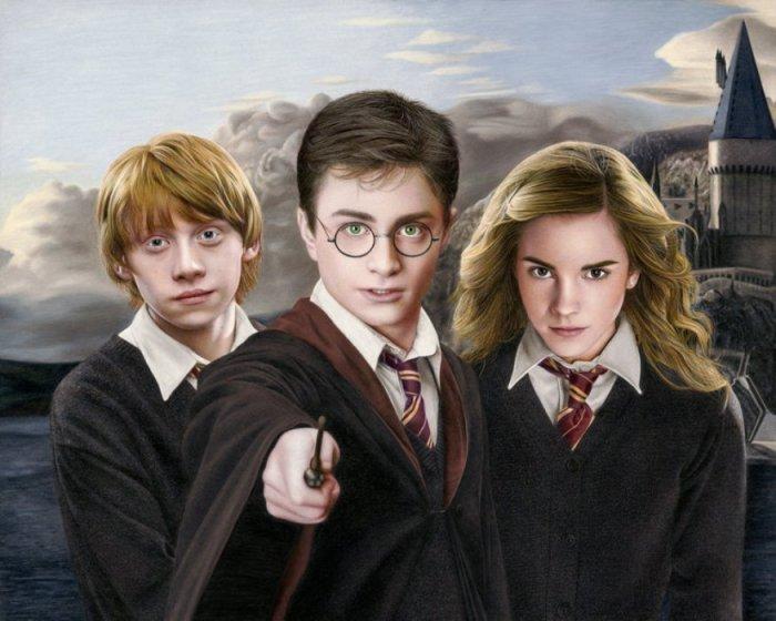 Гарри, Рон и Гермиона. Автор: Heather Rooney.