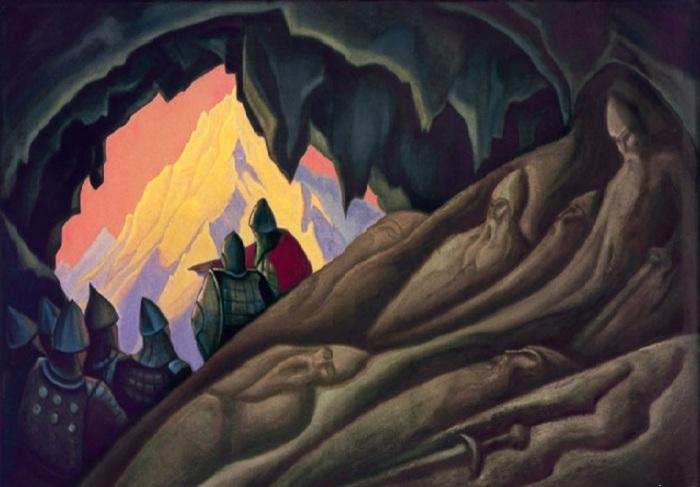 Н.К. Рерих. «Богатыри проснулись». (1940).