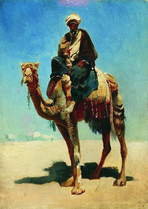 Араб на верблюде. (1870). Автор: Василий Верещагин.