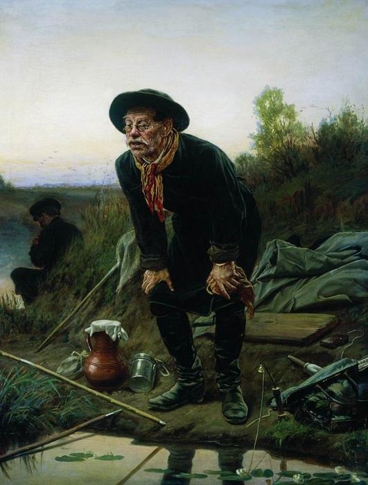 Рыболов. (1871). Автор: В.Перов.