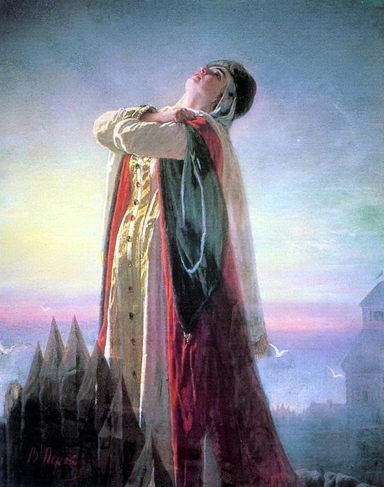Плач Ярославны. (1881).Частное собрание. Автор: В.Перов.