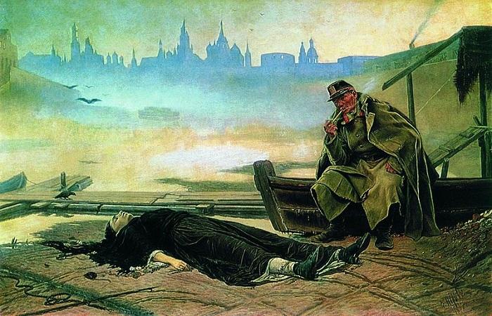 Утопленница (1867). Автор: В.Перов.