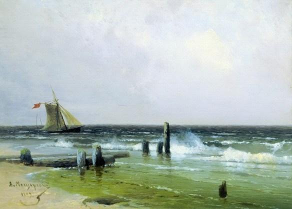 «Морской пейзаж» (1899 год). Государственная Третьяковская галерея. Автор: А.И. Мещерский.