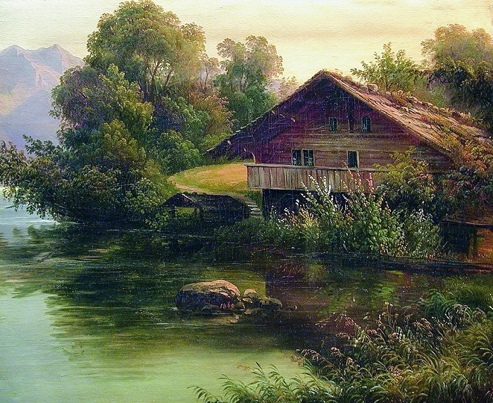 «У воды». (1860 год). Автор: А.И. Мещерский.
