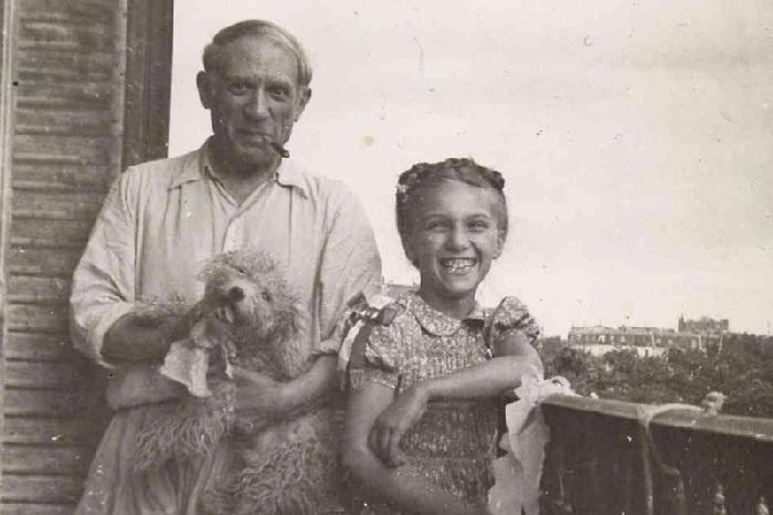 Пикассо с дочерью Майей, ок. 1944. Автор: Пабло Пикассо.