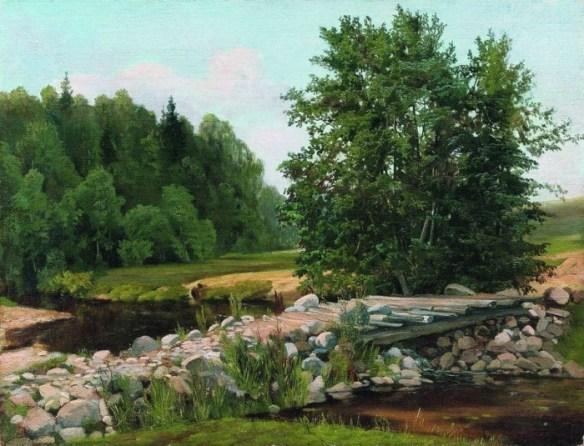 «Мостик через речку. Летний день» 1890-е
