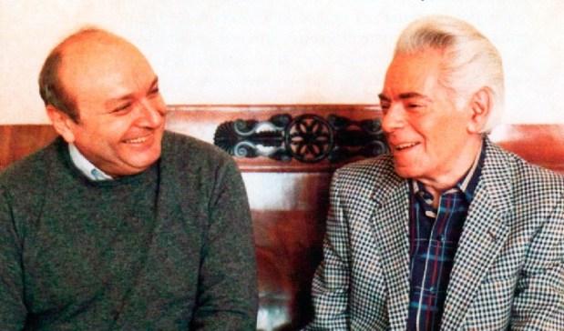Михаил Жванецкий с Аркадием Райкиным.