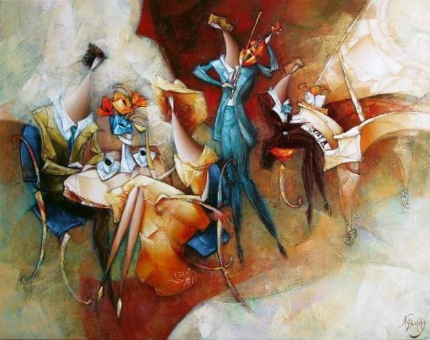 Стильная живопись от Nathanа Brutsky.