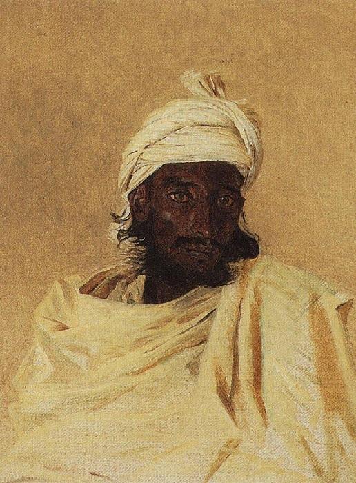 Бхил (Бхилы - одно из горных племен Декана). (1874). Автор: Василий Верещагин.