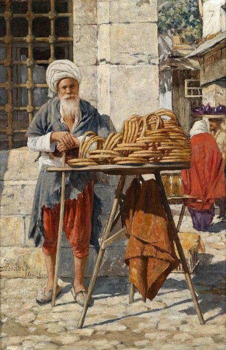 Торговец хлебом.