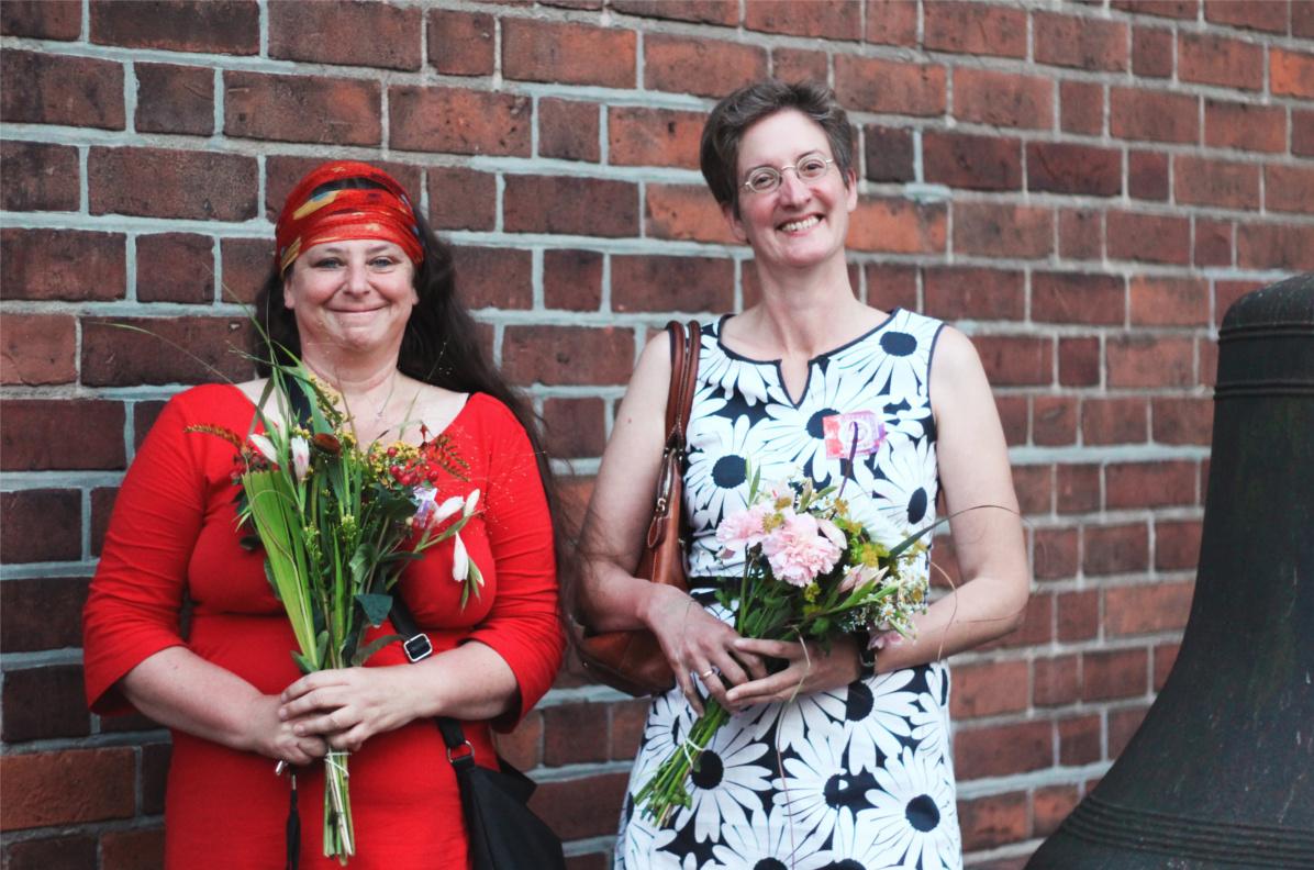 Foto Annett Gröschner und Christina Tilmann