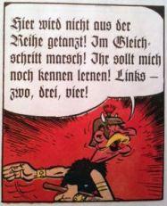 einmal deutsch, immer deutsch ...