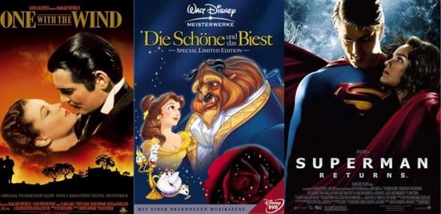 aufblickende Bewunderung auf Filmplakaten