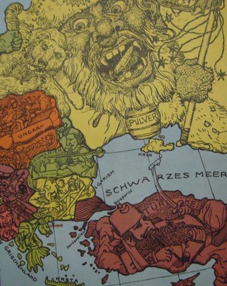 Europakarte von1914 - detail