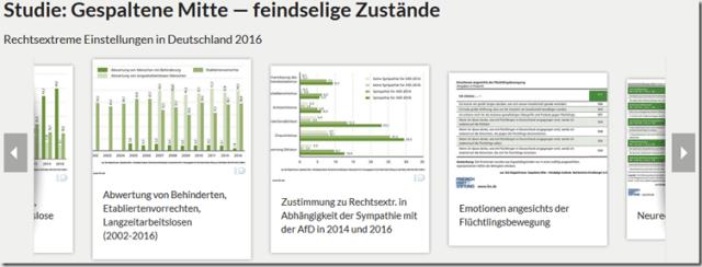 Webauftritt der Mitte Studie der FES