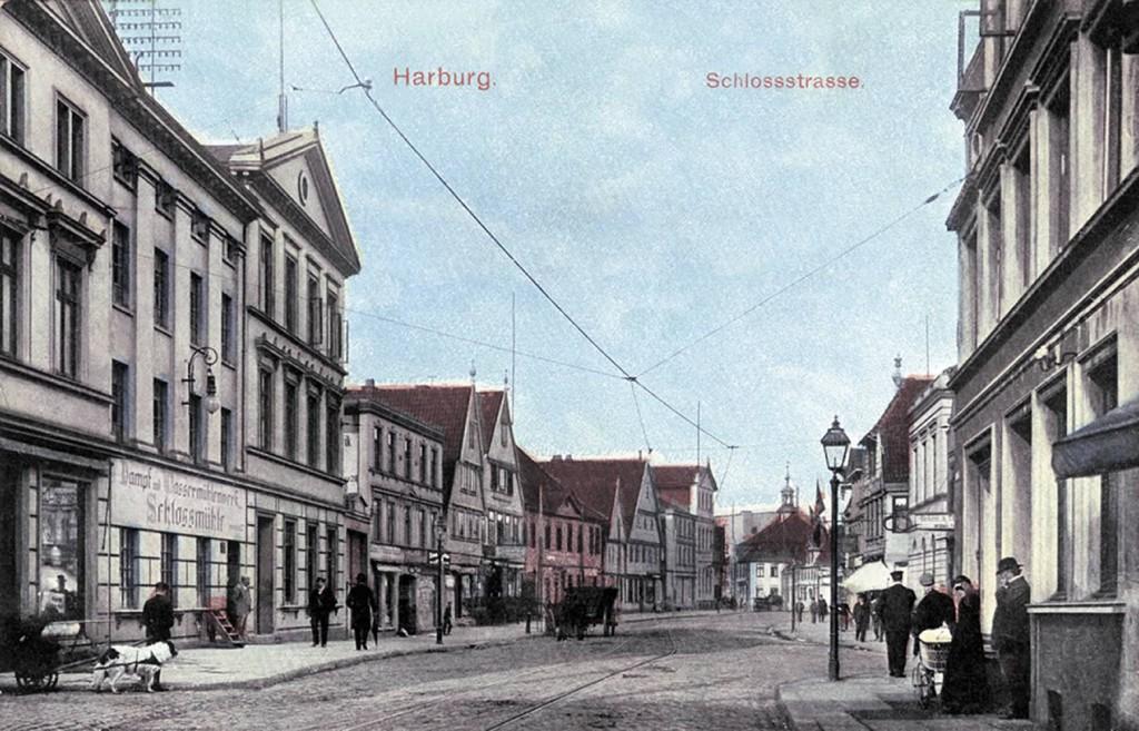 Postkarte Harburger Schloßstraße von 1911
