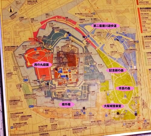 大阪城公園 桜マップ
