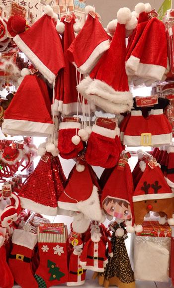 ダイソー クリスマス 帽子