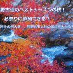 【秋のおすすめ】紅葉の熊野古道!お祭り!神社例大祭!どぶろく祭りもあります