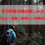 冬の観光と熊野古道の楽しみ方!おすすめは温泉?神社巡り?熊野古道を歩く?美味しい食事?