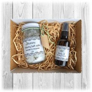 Bath Salts and Body Oil Gift Set
