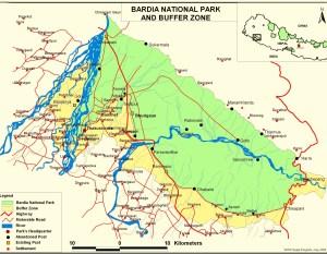 Bardia National Park on a Maps