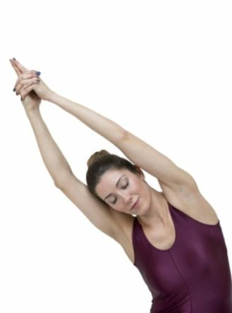 crescent, stretching, pose, yoga, crescent moon, side stretch