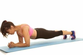 plank, core strength, pose, easy yoga for beginners