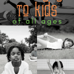 teach yoga to kids of all ages, young kids and toddlers practice yoga outside and in a classroom