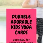 yoga cards for kids, kids yoga pose cards