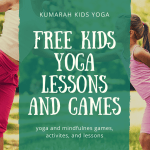 Free Resources Library for Kumarah Kids Yogayouga and mindfulness games, activities and lessons, adult and child practicing dancer balance pose while holding hands