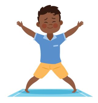 star pose for kids yoga