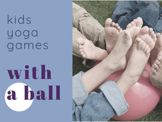 "Group Kids ""Yoga"" Games With a Ball"