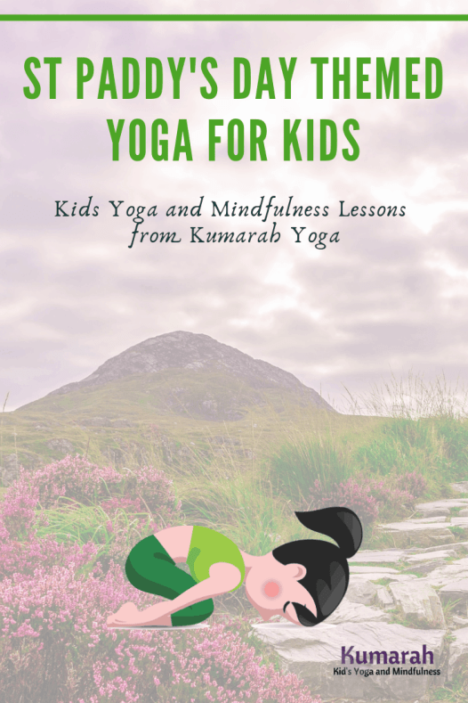 st patricks day themed yoga for kids, kids yoga poses for ireland themed yoga, irish yoga lesson for kids