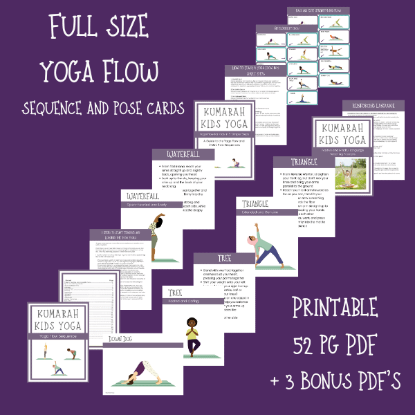 Kids Yoga Flow, sequence of Yoga Poses for Kids
