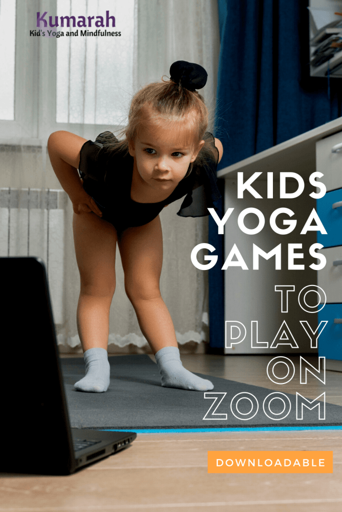 virtual and distance learning games for kids yoga classes on zoom.