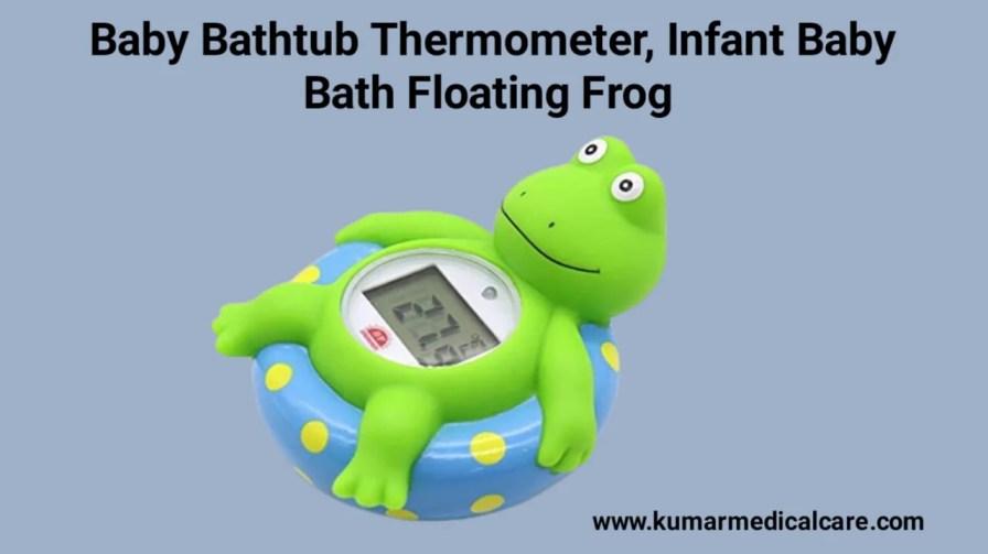 Baby Bathtub Thermometer, Infant Baby Bath Floating Frog