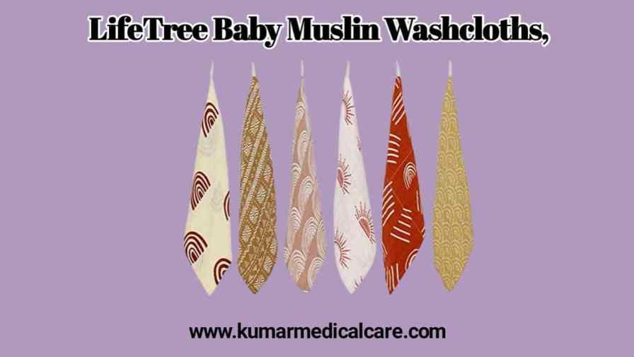 LifeTree Baby Muslin Washcloths