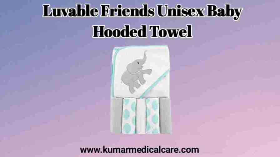 Luvable Friends Unisex Baby Five Washcloth with Hooded Towel
