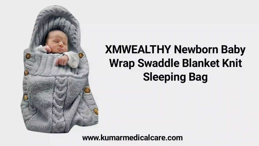 XMWEALTHY Newborn Baby Wrap Swaddle Blanket Knit Sleeping Bag