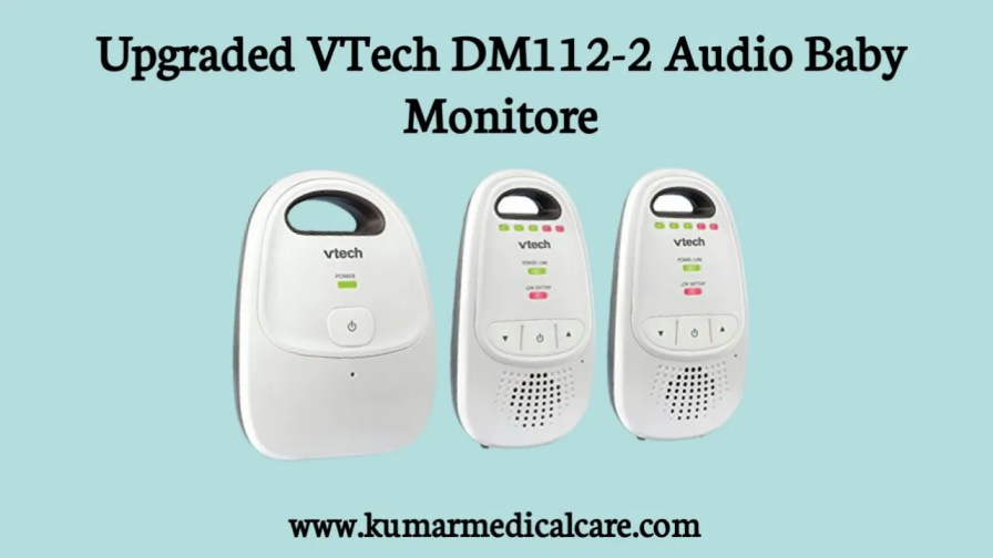 upgraded VTech DM112-2 Audio Baby Monitor