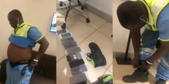 Kotoka Airport worker Caught With Over 10 Stolen iPhones In His Clothes