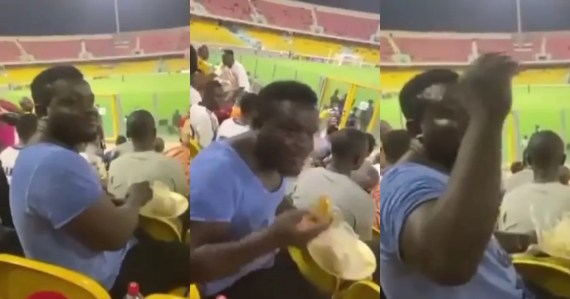 Hearts of oak fan eating banku