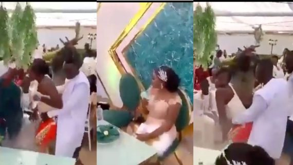 Groom grinds the backside of his ex