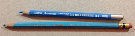 Woodcase Non-Photo Blue Pencils- Staedtler & Prismacolor Col-Erase