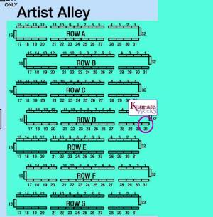 Artist Alley map -Table D31