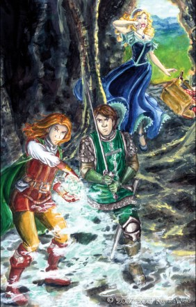 """""""Cave Confrontation""""-Cover to the first issue, """"Dorian The Beardless""""."""